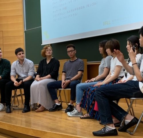 Students visiting Fukuoka University for Discussion session