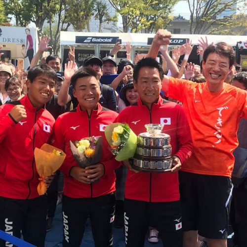 Japan Team led by our VP won Junior Davis Cup