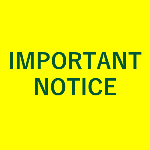 [IMPORTANT NOTICE] Certificates Issuance during faculty remote work period
